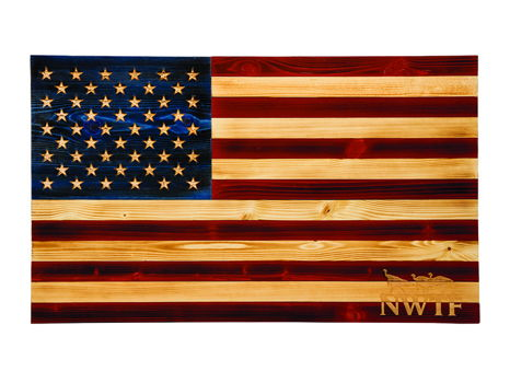 Wooden Flag Wall Plaque