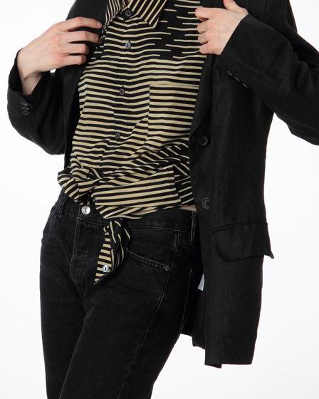 Шелковая рубашка Missori с мужского плеча, оверсайз