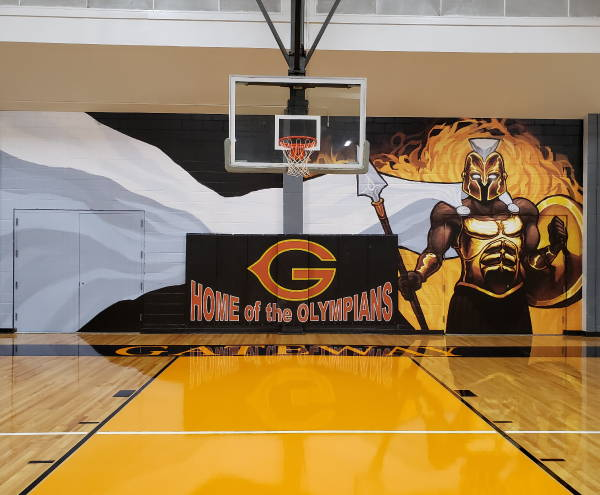 Interior Vinyl Wall Wrap -  School Gym Wall Wrap