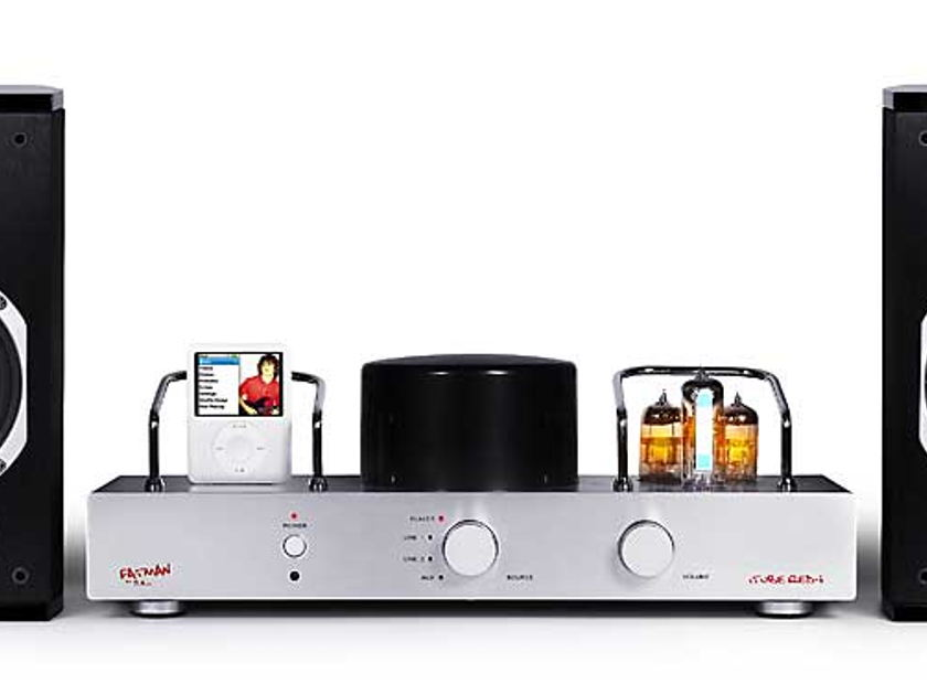 Fatman i-Tube Red-i, with speakers. Tubed ipod dock. additional  inputs, free U.S. shipping.