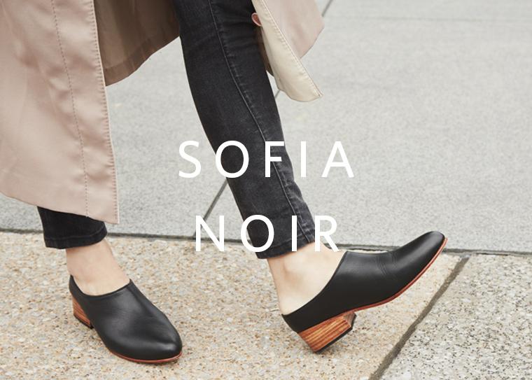 Nisolo Sofia Slip-On Noir