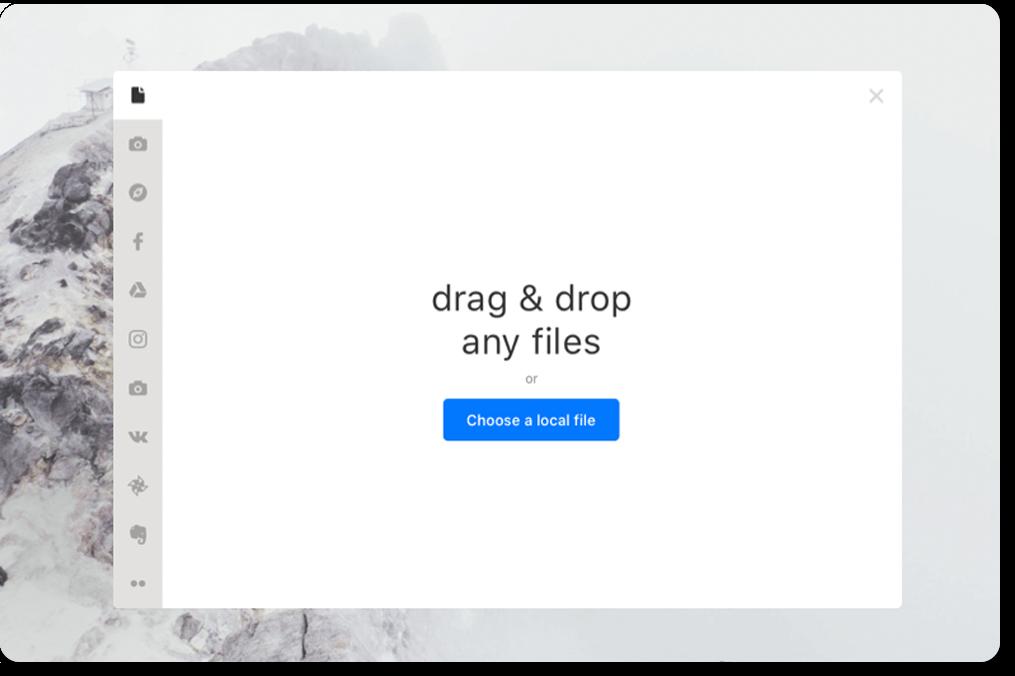 File Uploader appearance