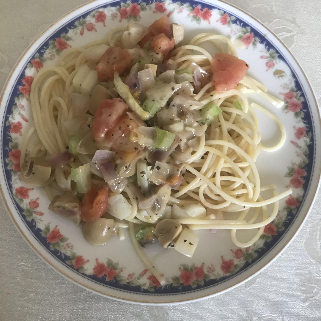 Creamy mushrooms spaghetti 😁👍🏻❤️
