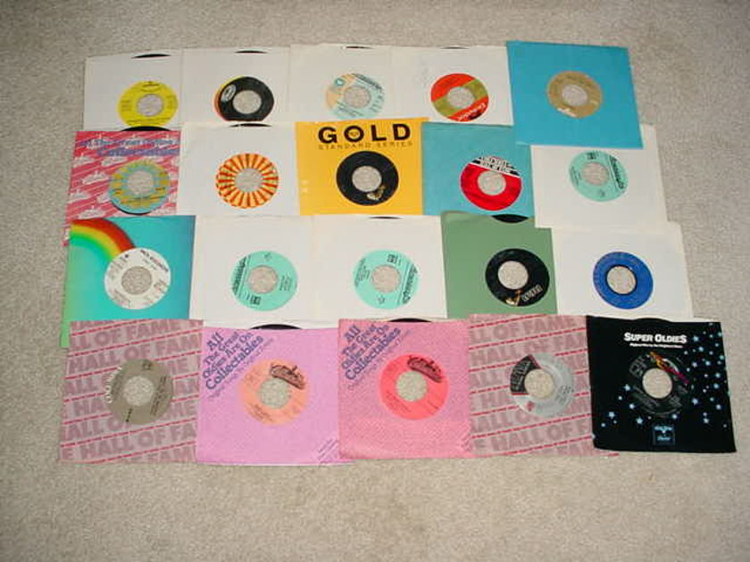 juke box 45 rpm record lot of 20 - easy pop oldies some country very good