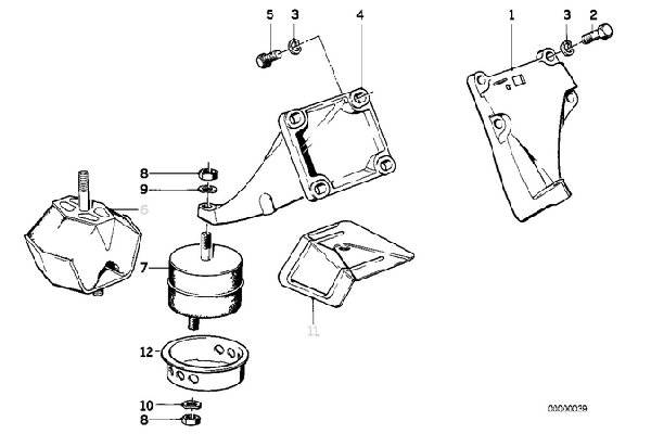 E30 M20 Engine Mount Replacement 11811132321