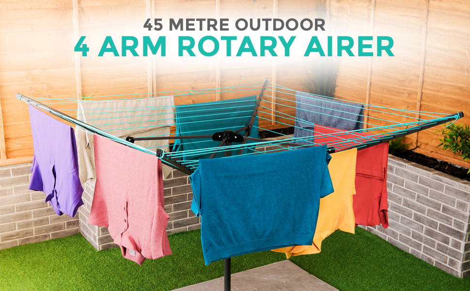 4 Arm Rotary Airer