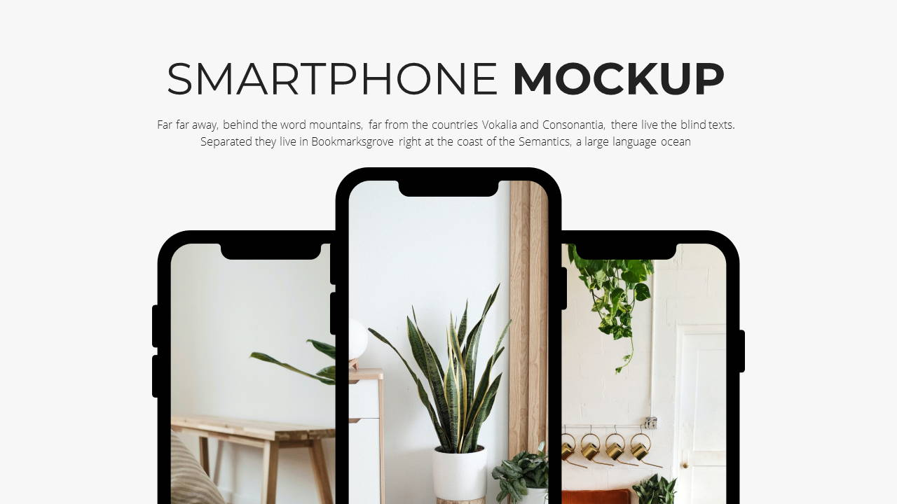 Minimal X Sales Deck Presentation Template Smartphone Showcase