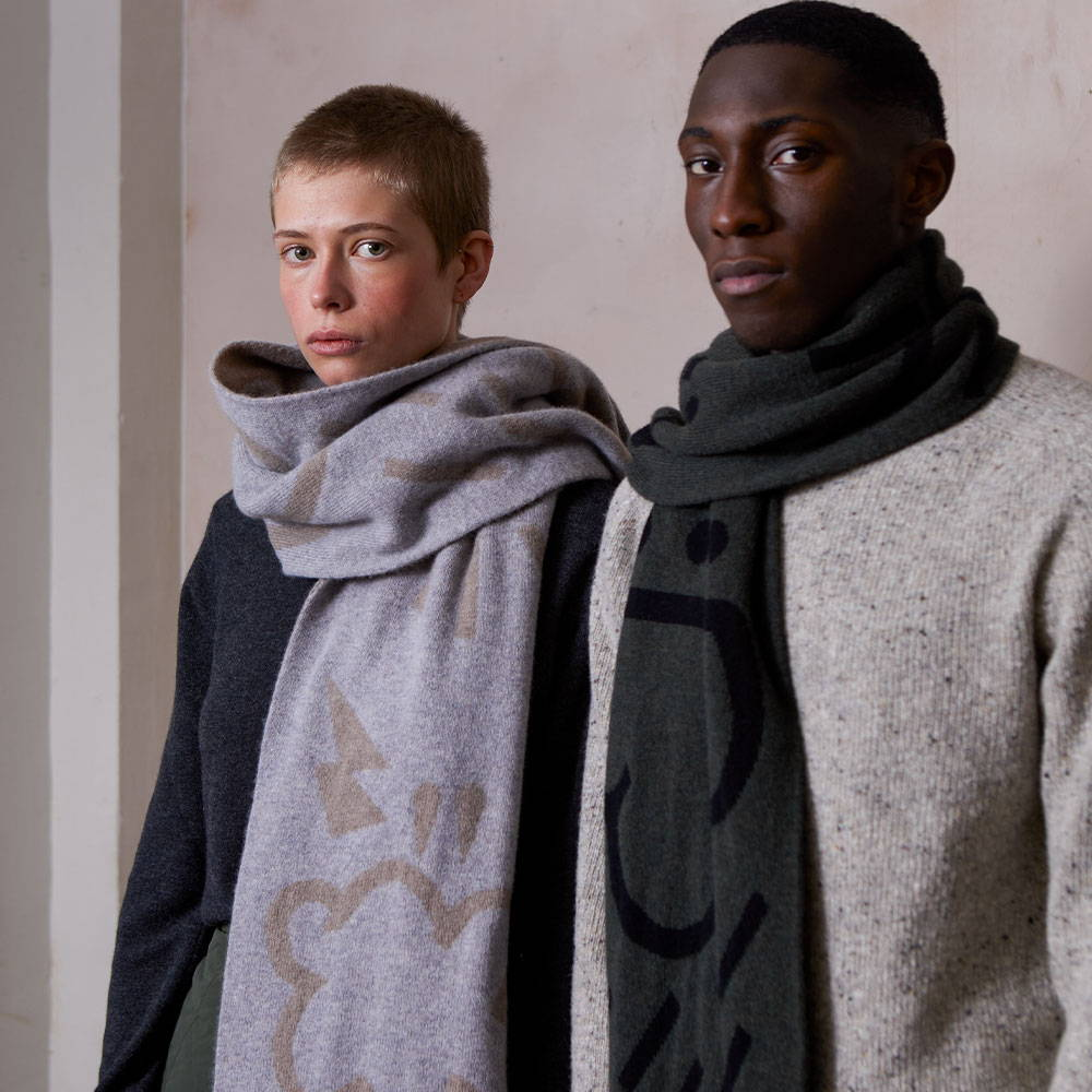 Ally Capellino AW21 Dark skies weather maps knitwear campaign image