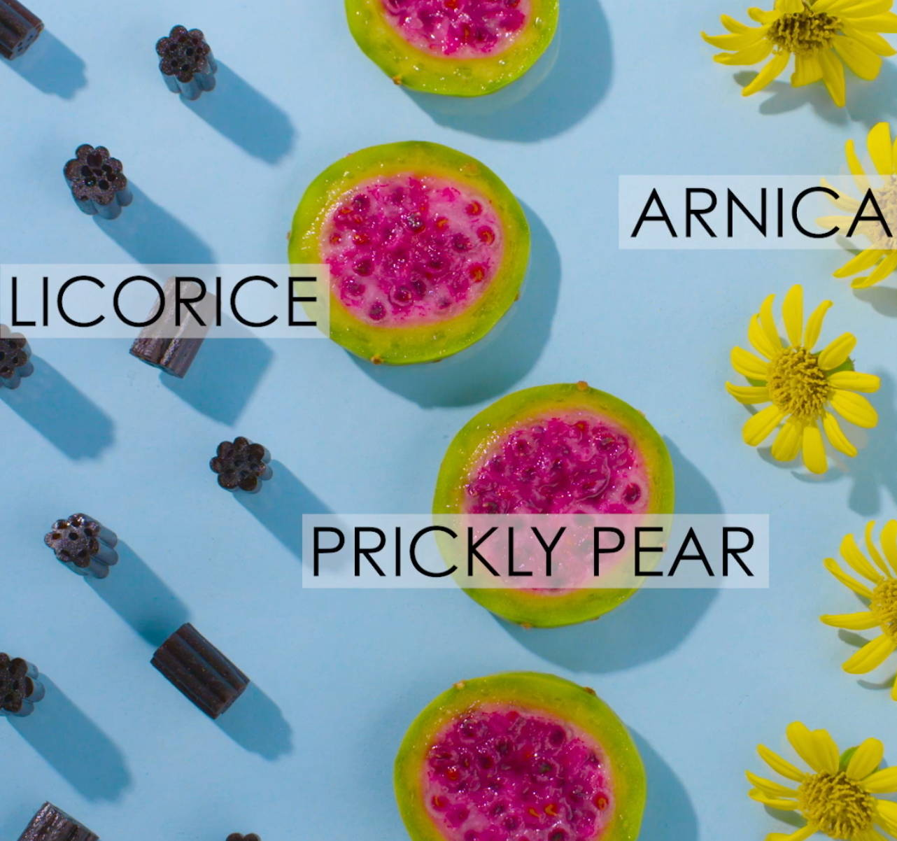 Good Genes ingredients licorice prickly pear arnica