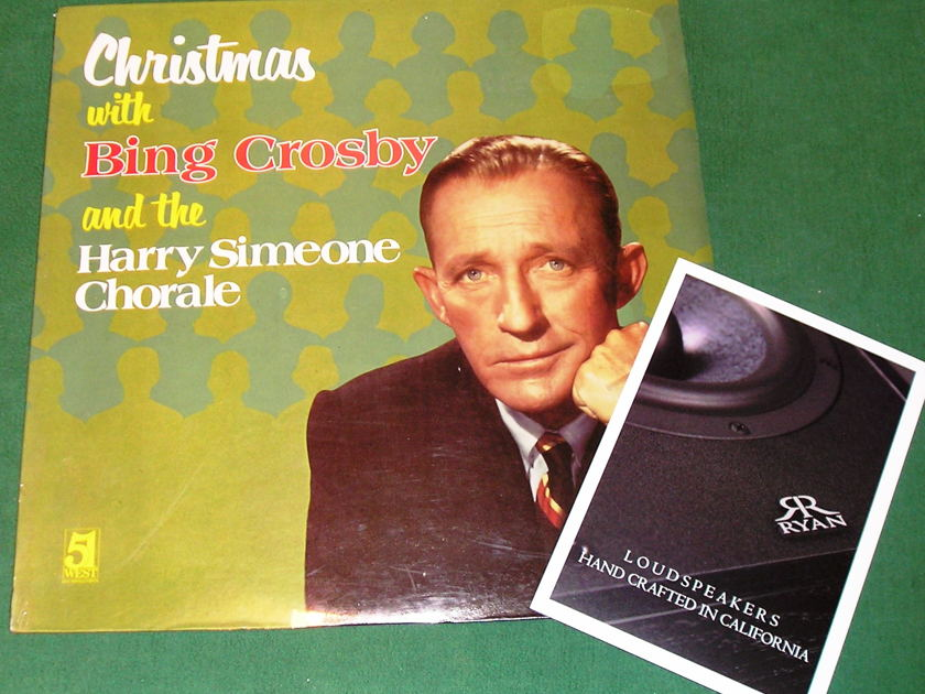CHRISTMAS with BING CROSBY & HARRY SIMONE - * RARE 1979 51 WEST RECORDS & TAPES PRESS * NEW/SEALED