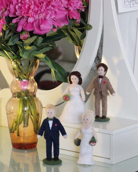 """Свадебная кукла ручной работы из шерсти """"Wedding day"""""""