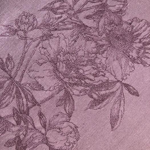 Шоппер из натурального льна с вышивкой «пионы»