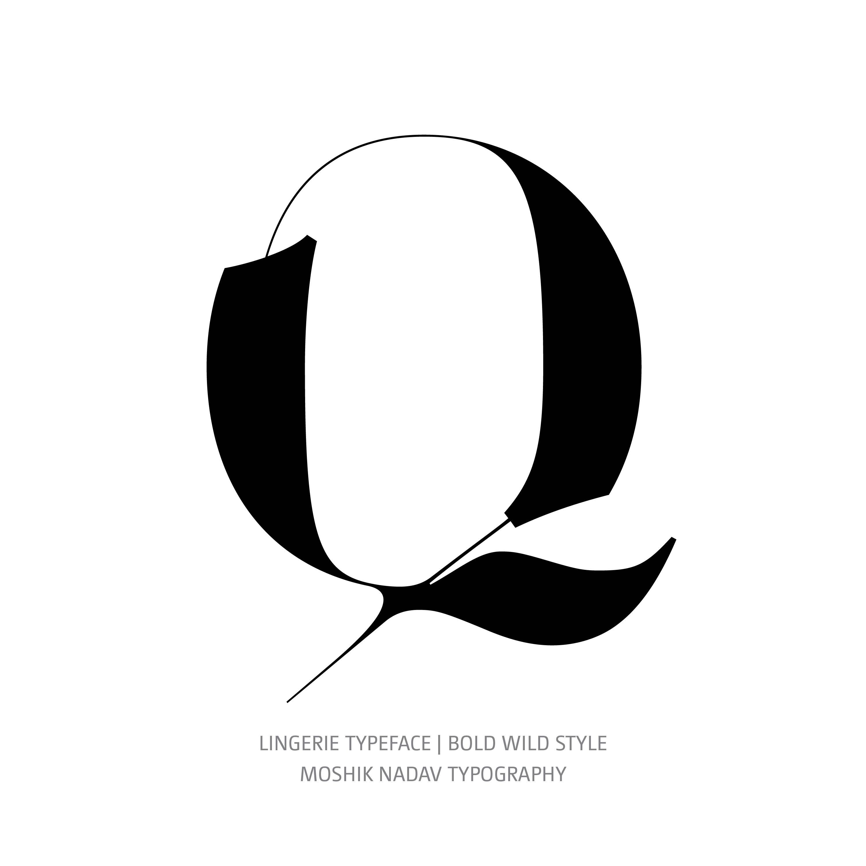 Lingerie Typeface Bold Wild Q
