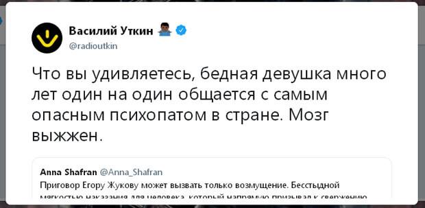 Анна Шафран написала скандальный пост о приговоре Егору Жукову - OnAir.ru