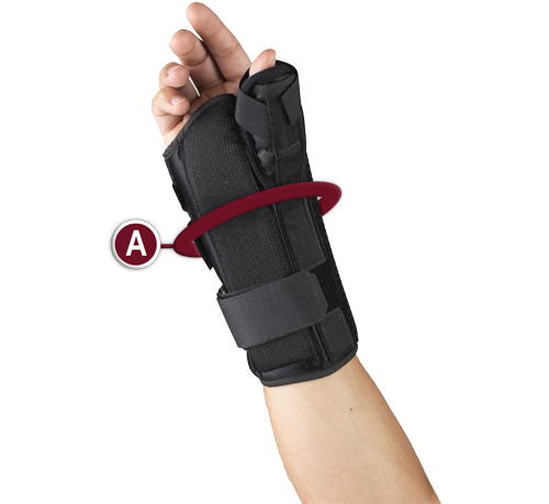 WRIST/THUMB SPLINT/SPICA MEASUREMENT LOCATION
