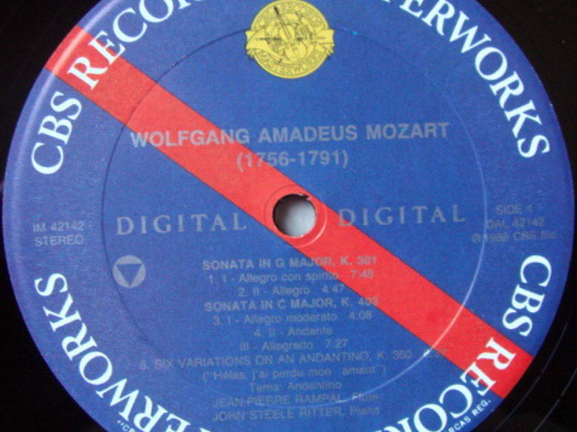 CBS Digital / RAMPAL-RITTER, - Mozart Sonatas & Variations, NM!