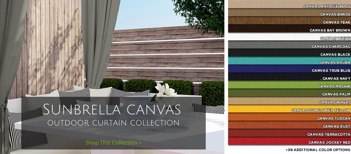 sunbrella canvas outdoor curtain collection