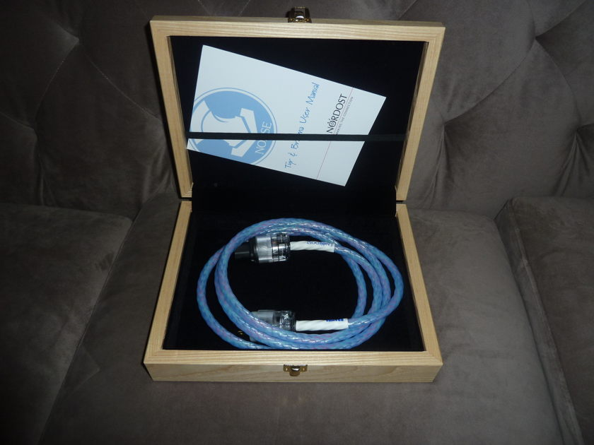 Nordost  Brahma 2m power cable free shipping US48 save $$$$$