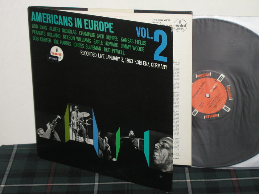 "Don Byas+Bud Powell+More  - ""Americans In Europe VOL.2"" Impulse Orig STEREO AS-37"