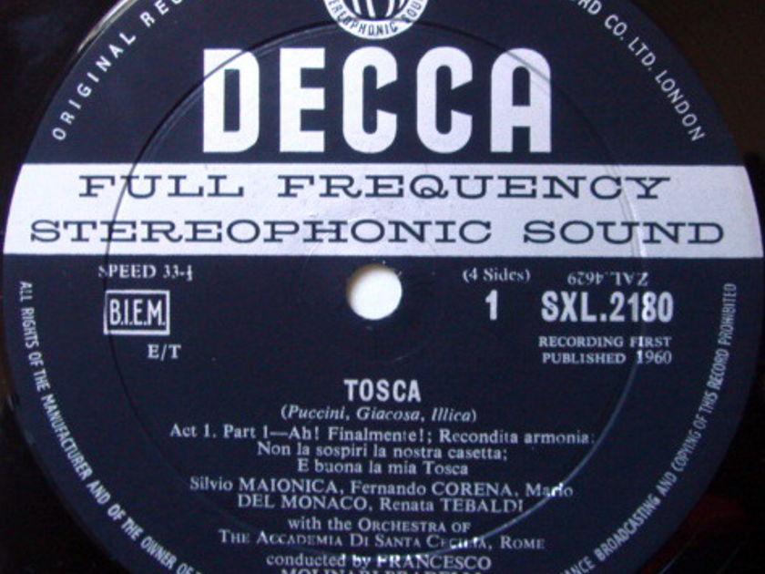 DECCA SXL-WB-ED1 / TEBALDI-DEL MONACO, - Puccini Tosca, EX, 2LP Set!