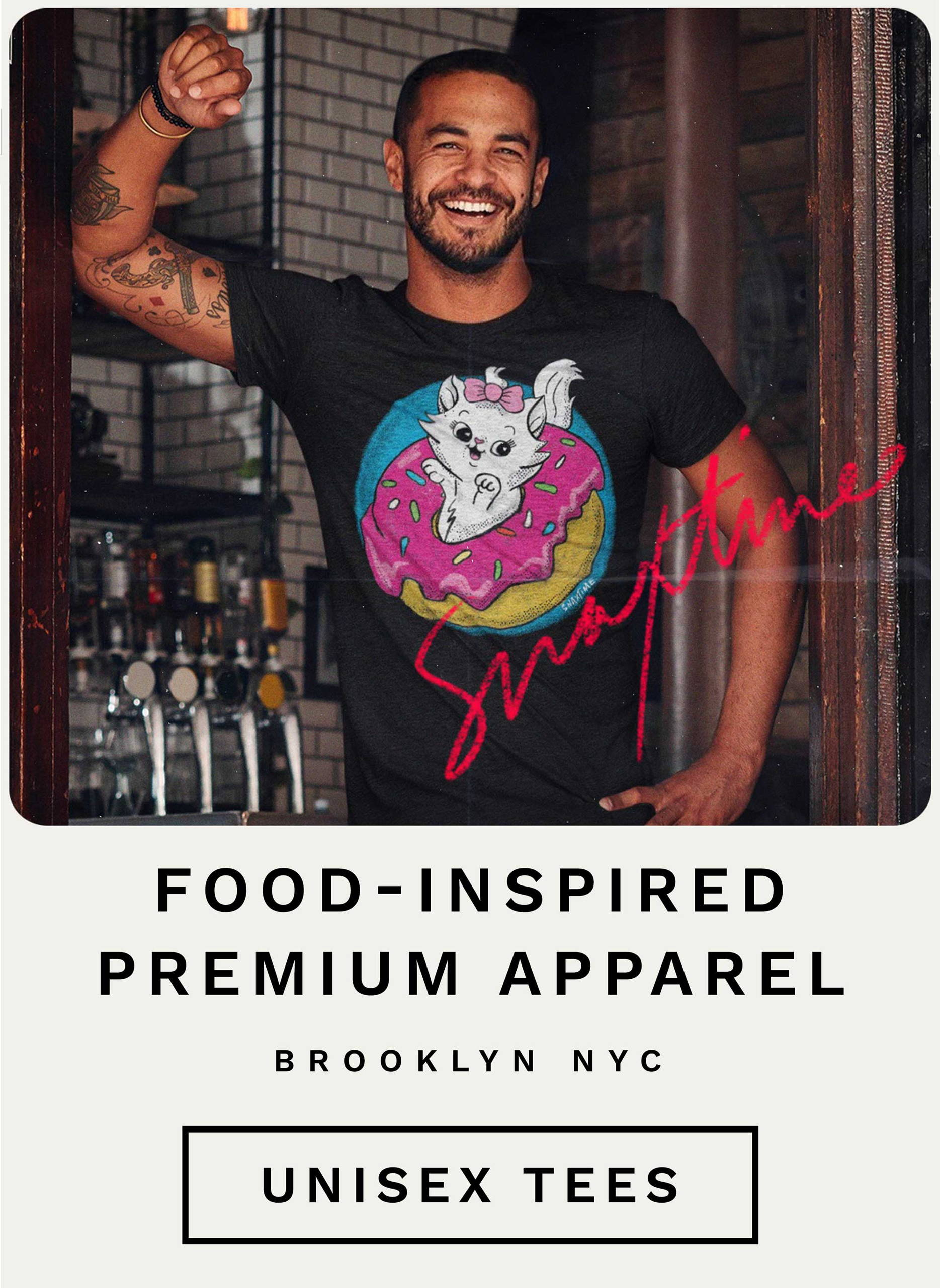 Food-Inspired Premium Retro Apparel