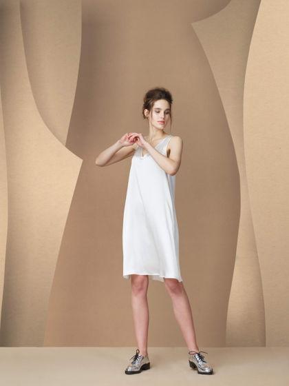 Шелковое платье - комбинация