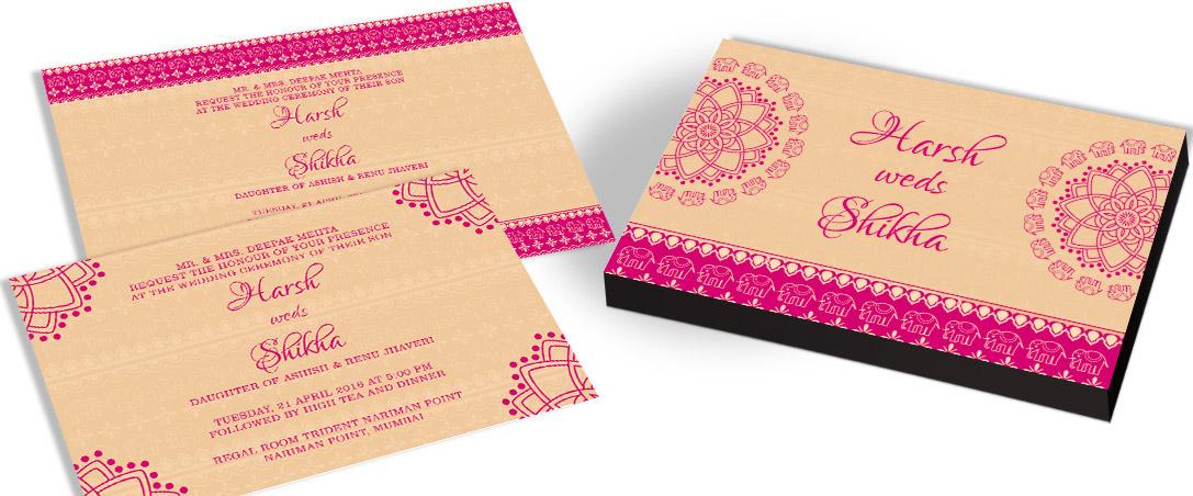 Customised designer Marriage Invitation