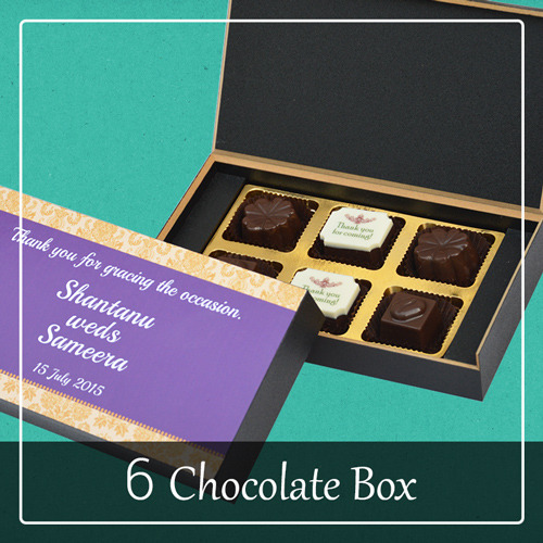 6 chocolate box as return gift for wedding