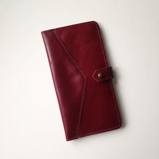 Кожаный кошелек-портмоне Lingonberry Jam