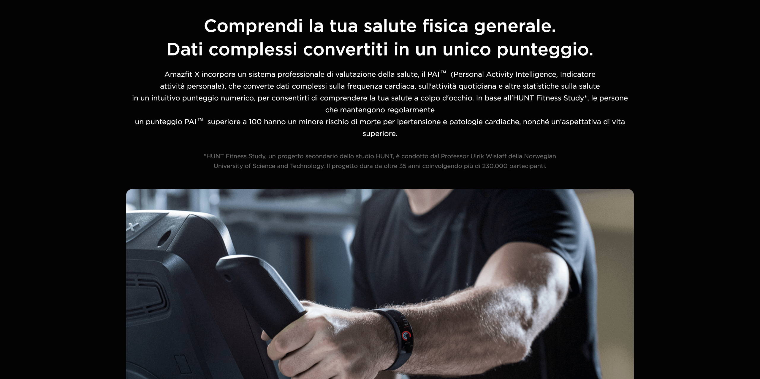 Amazfit X - Comprendi la tua salute fisica generale. Dati complessi convertiti in un unico punteggio.