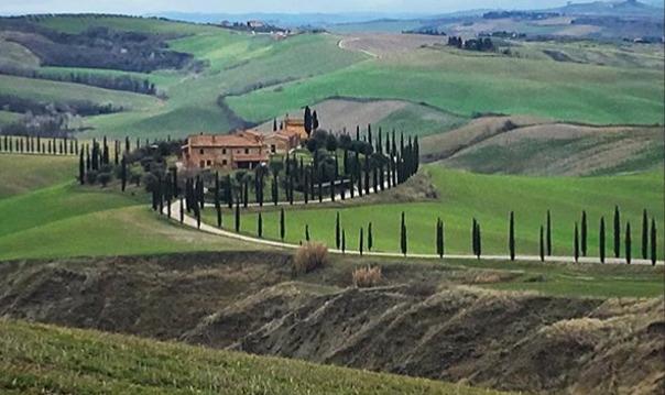 Валь д'Орча - южная Тоскана: кипарисы и вино