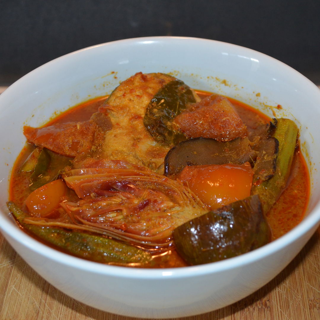 Date: 28 Feb 2020 (Fri) 38th Side: Sour and Spicy Threadfin Cutlets (Asam Pedas Hirisan Ikan Kurau) [247] [151.5%] [Score: 8.0] Cuisine: Malaysian, Singaporean, Indonesian, Bruneian Dish Type: Side