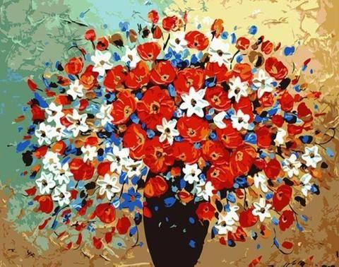 peinture par numéros de fleurs