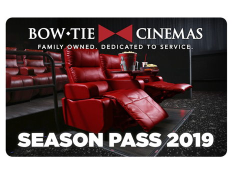 A Bow Tie Cinemas Season Pass for 2 for One Year!