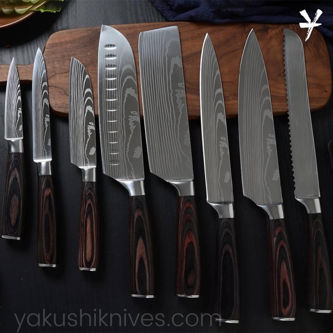 Best Kitchen Knife Set, Japanese Chef Knife Set, Damascus Knife Set, Professional Kitchen Knives