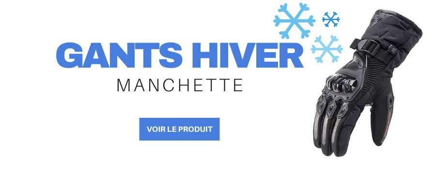 gants manchette trottinette electrique