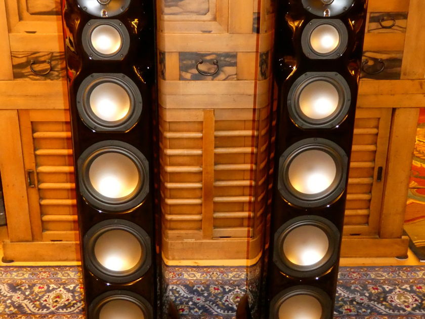 $22,000 Revel Ultima2 Salon2 Speakers in Gloss Black PIano Finish