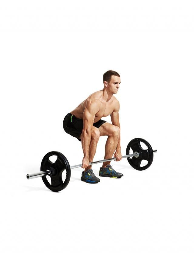 Stand with your feet hip width