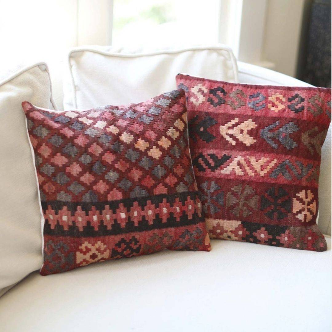 upcycled refugee made pillow cases