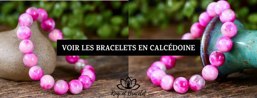 Bracelet en Calcédoine Rose - King of Bracelet