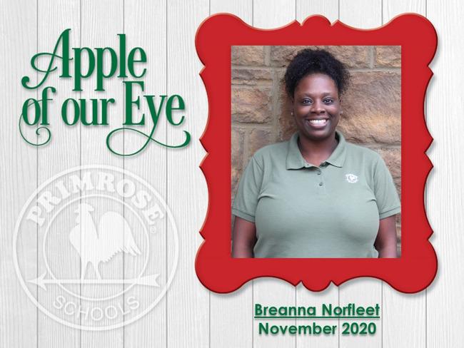 November Apple of our Eye - Breanna Norfleet