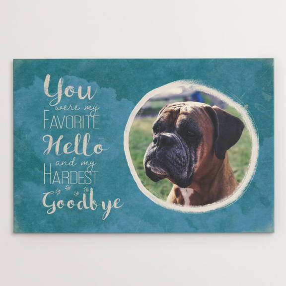 You Were My Favorite Hello and My Hardest Goodbye, Boxer dog memorial