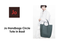 Jo Circle North Handbag (Basil)