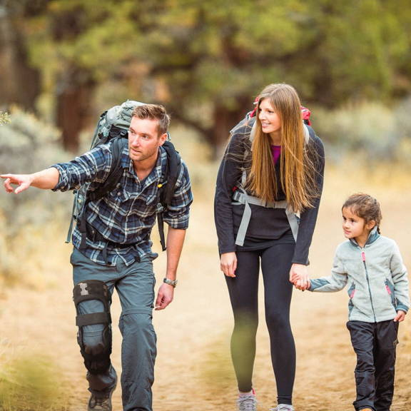 man with family and comfyorthopedic functional knee brace with family