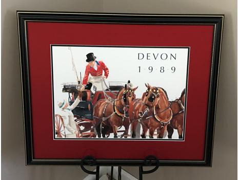 1989 Devon Horse Show Commemorative Art