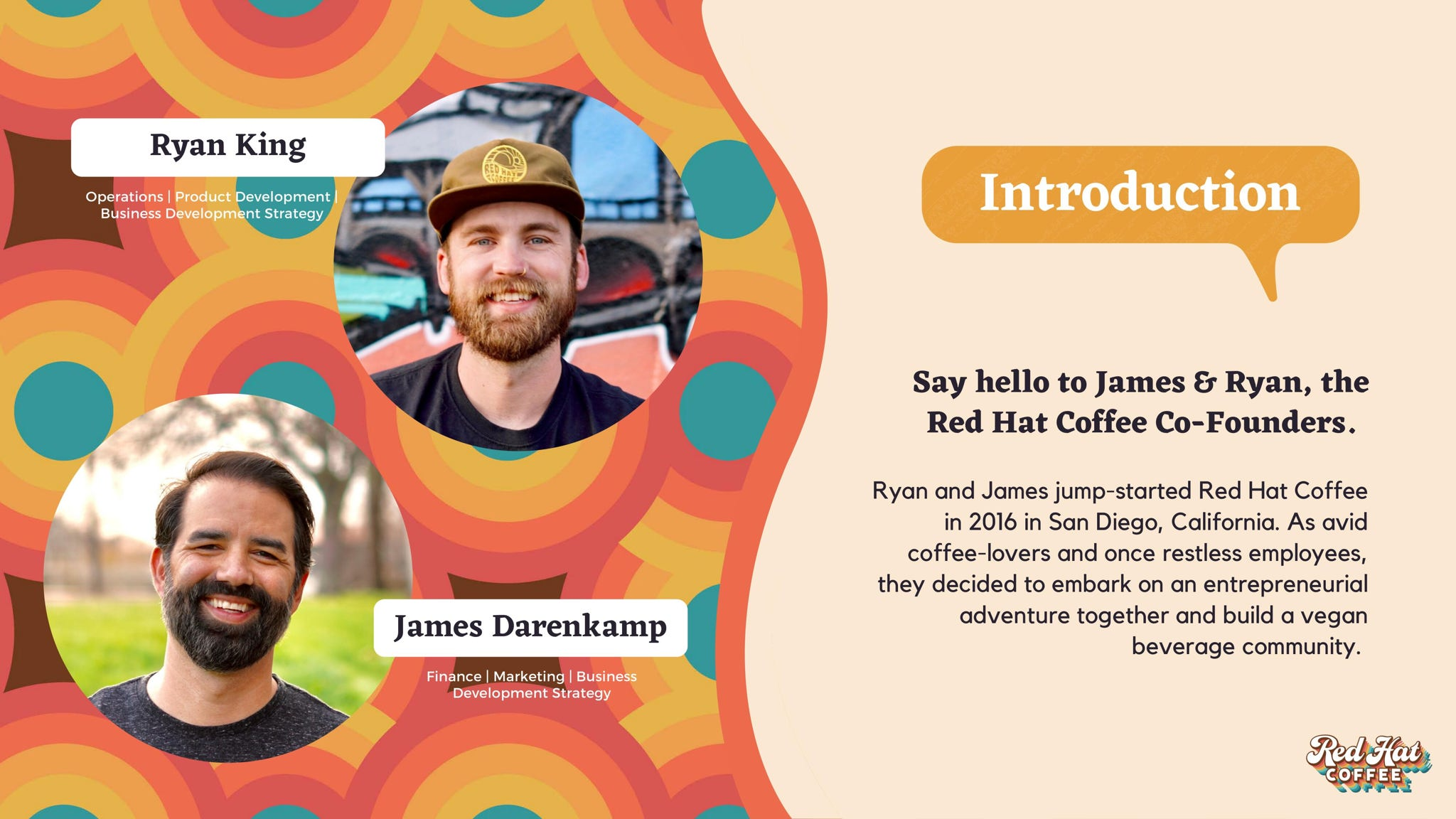 Say hello to our co-founders, Ryan King and James Darenkamp, both based in Austin, Texas.