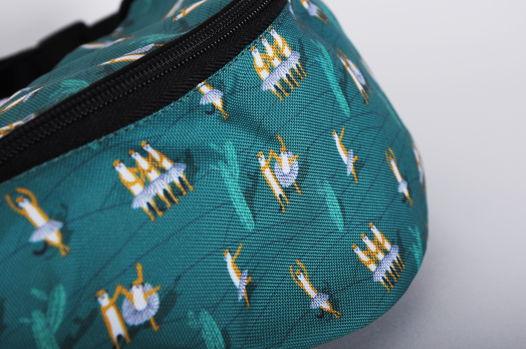 Зеленая поясная сумка