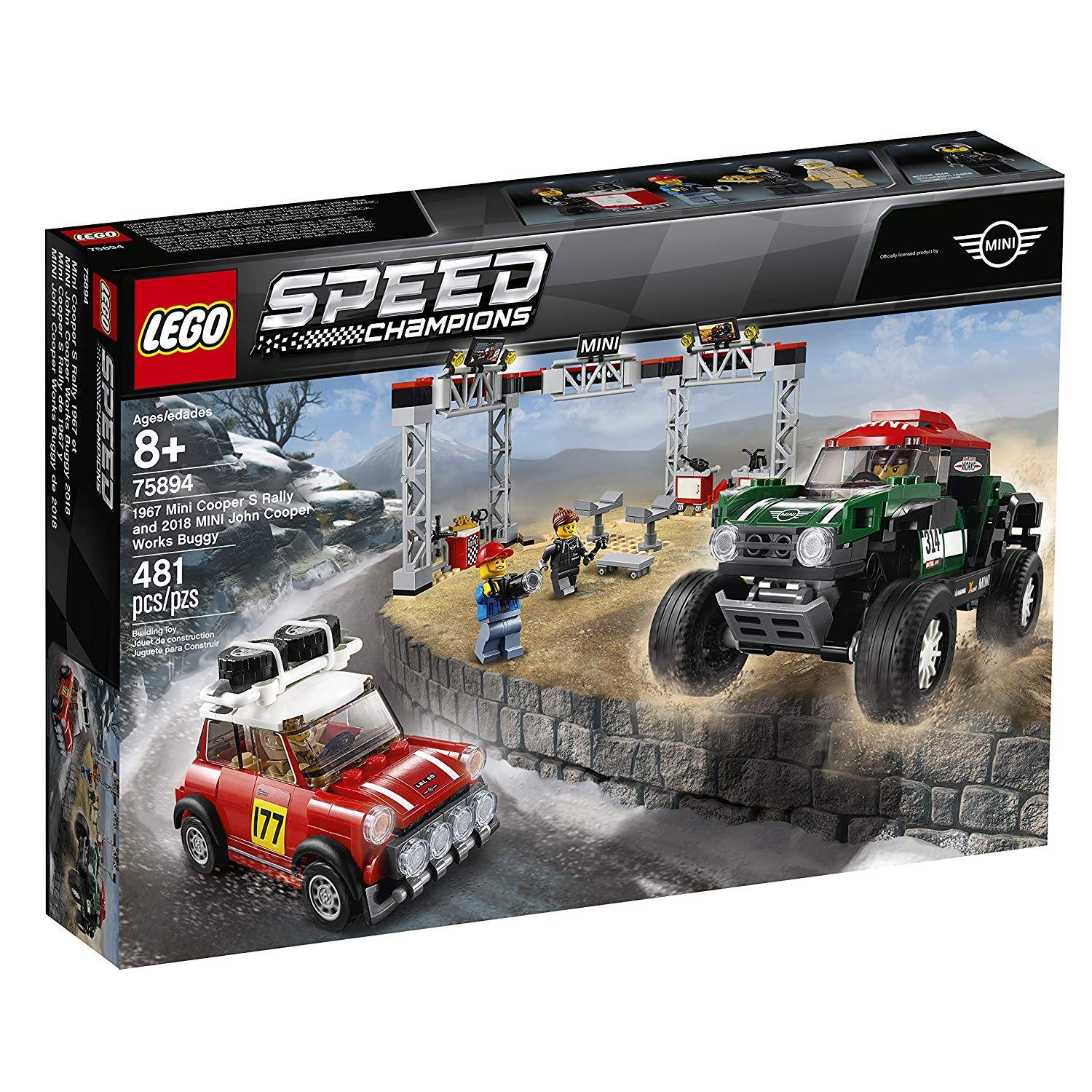 LEGO 75894: 1967 Mini Cooper S Rally and 2018 Mini John Cooper Works Buggy
