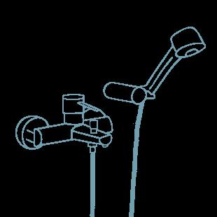 standard faucet showers