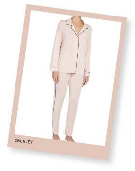 Eberjey gisele modal tuxedo pants pajamas